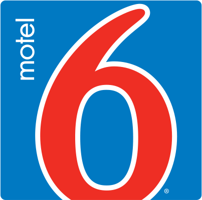 Logo for Motel 6 Anaheim Stadium - Orange